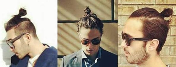 Hipster Style Trendfrisur Man Bun