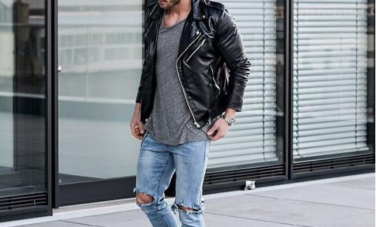 Outfit Lederjacke