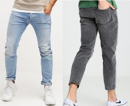 Slim Fit Jeans Hochwasser