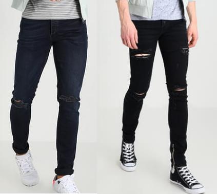 Slim Fit Jeans destroyed