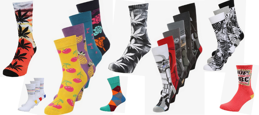 Bunte Socken Collage