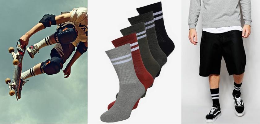 Hohe Socken, Skaterstyle
