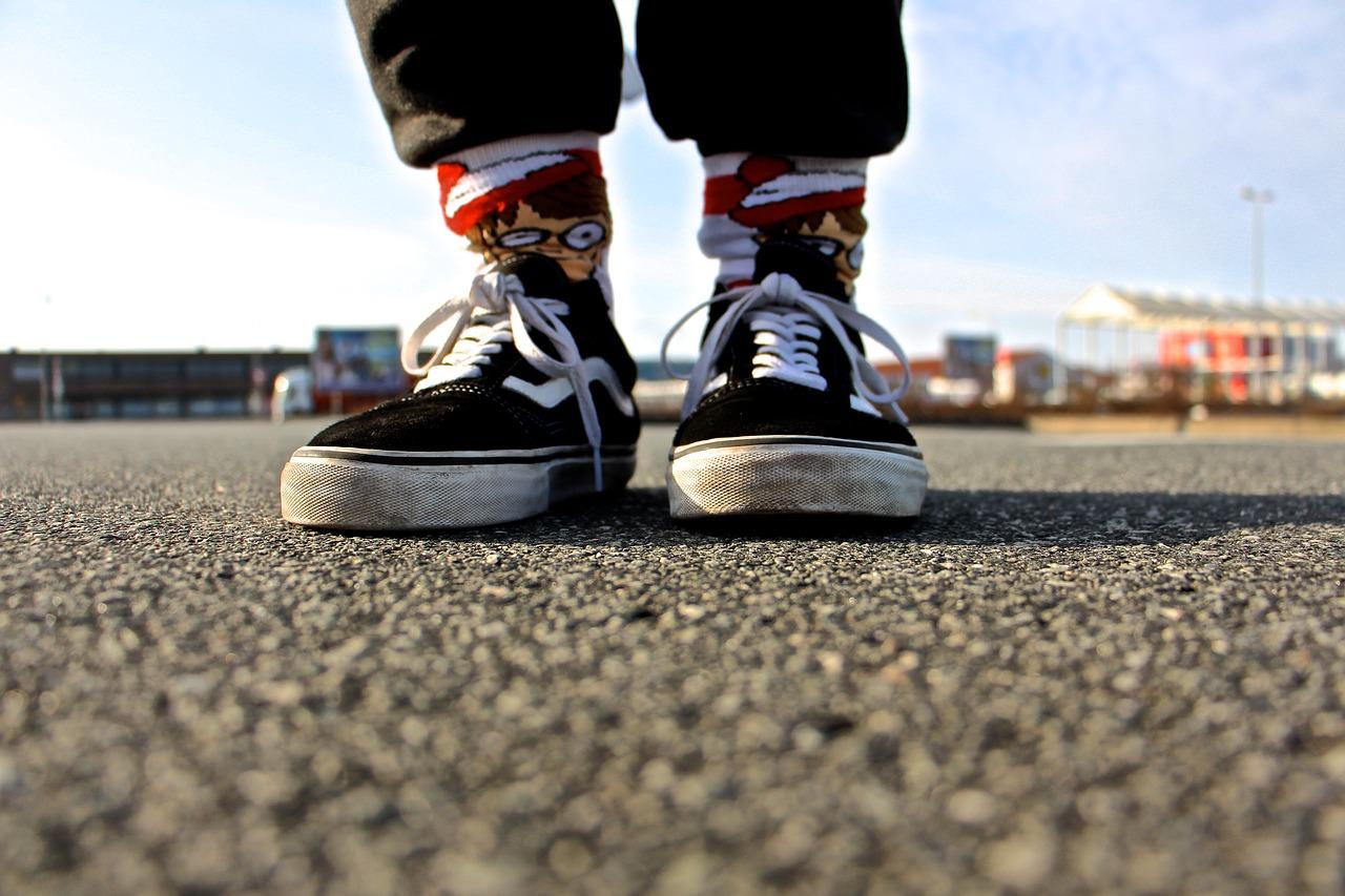 Bunte Socken & Vans