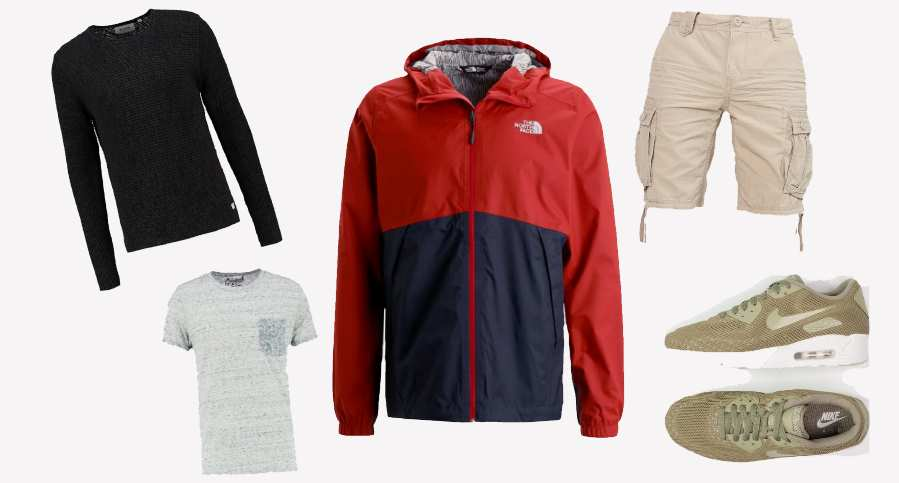 Collage Regenoutfit Sommer Outfit